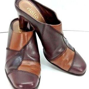Rialto Patchplace Women Slip on Heels Size 6.5M